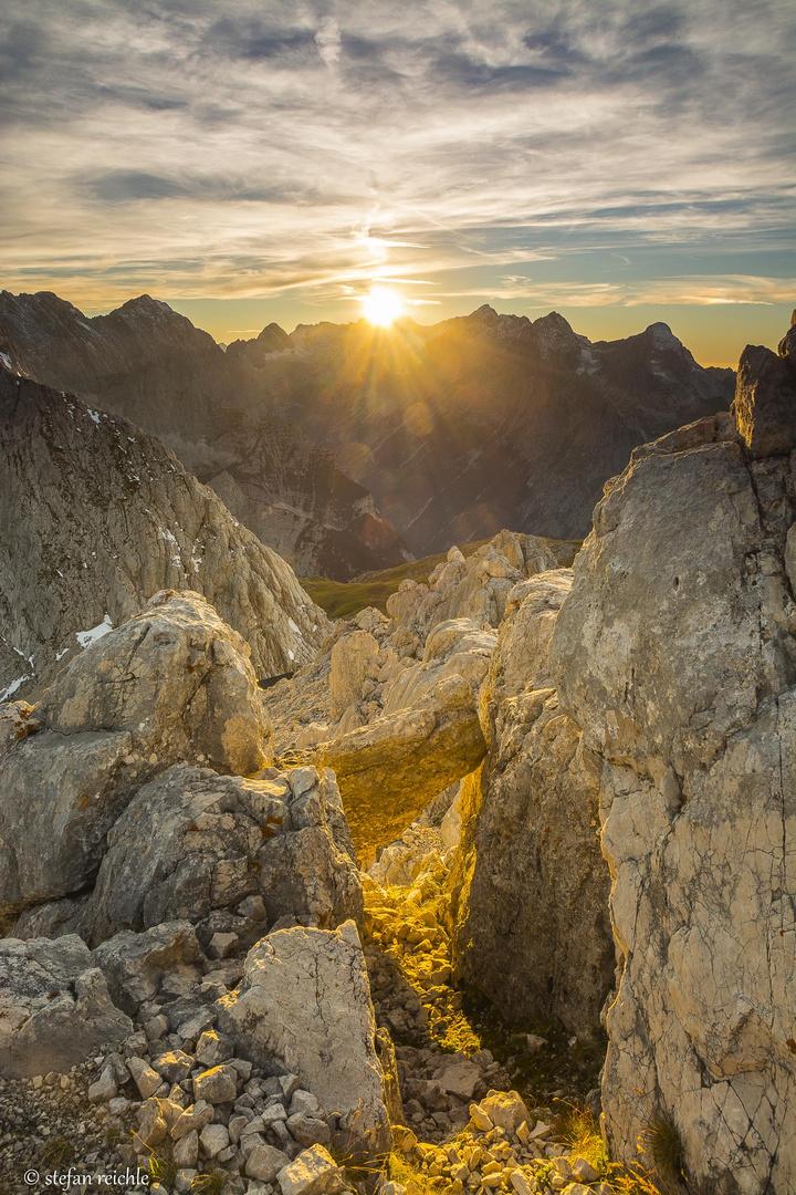 Sonnenuntergang bei der Meiler Hütte