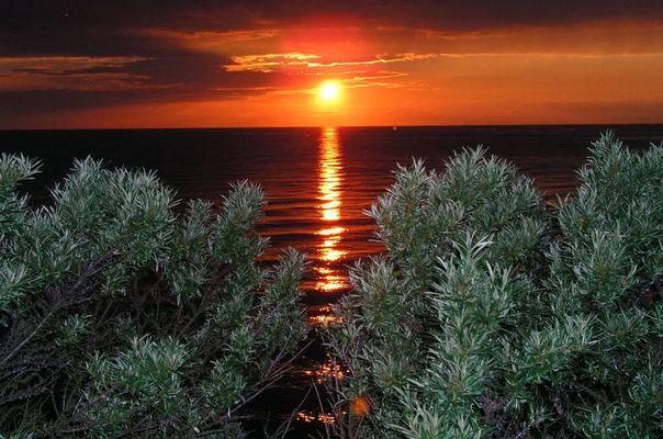 Sonnenuntergang bei Dranske