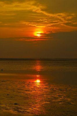 Sonnenuntergang bei Ebbe!