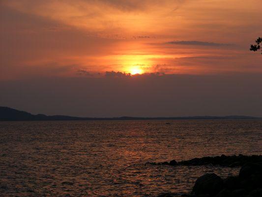 Sonnenuntergang bei einer finnischen Hochzeit