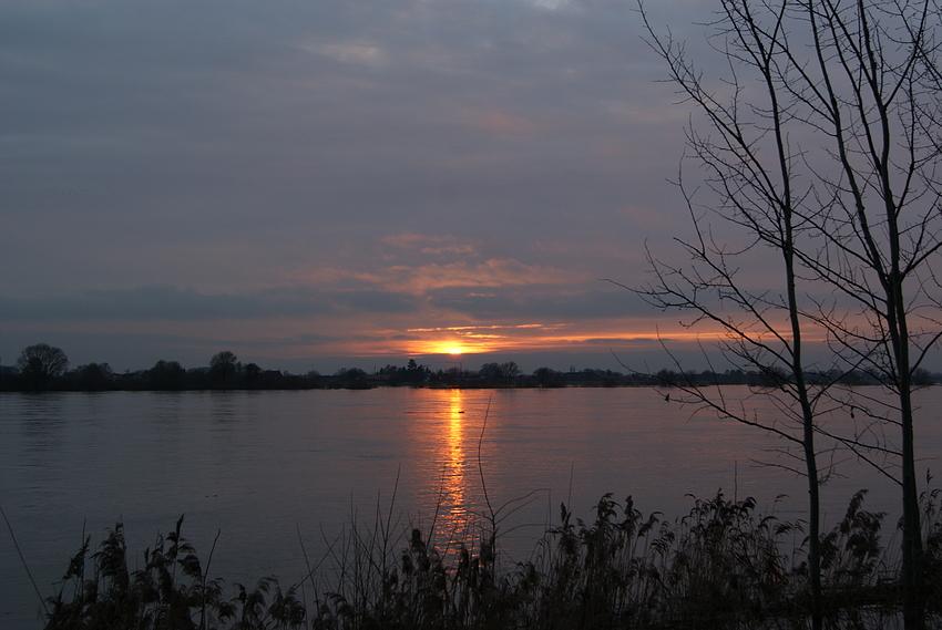 Sonnenuntergang bei Geesthacht/Elbe Bild 2