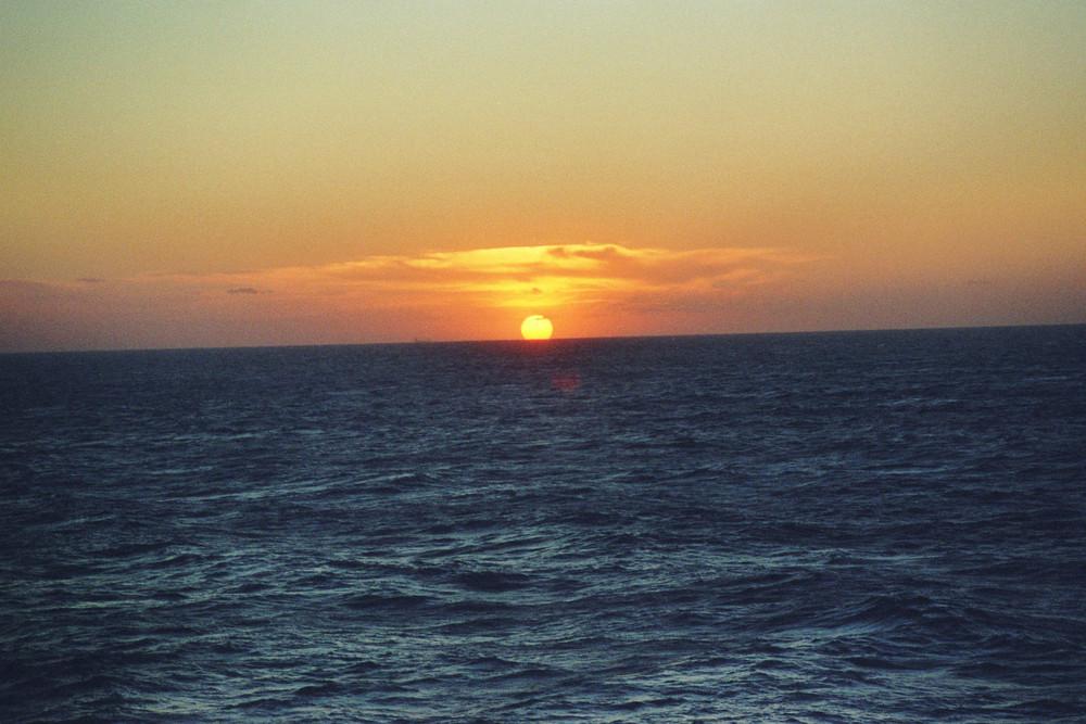 Sonnenuntergang bei Genua