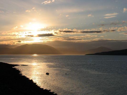 Sonnenuntergang bei Hammerfest