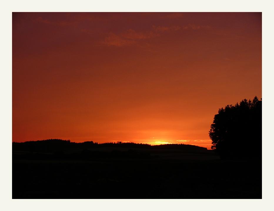 Sonnenuntergang bei Holzheim