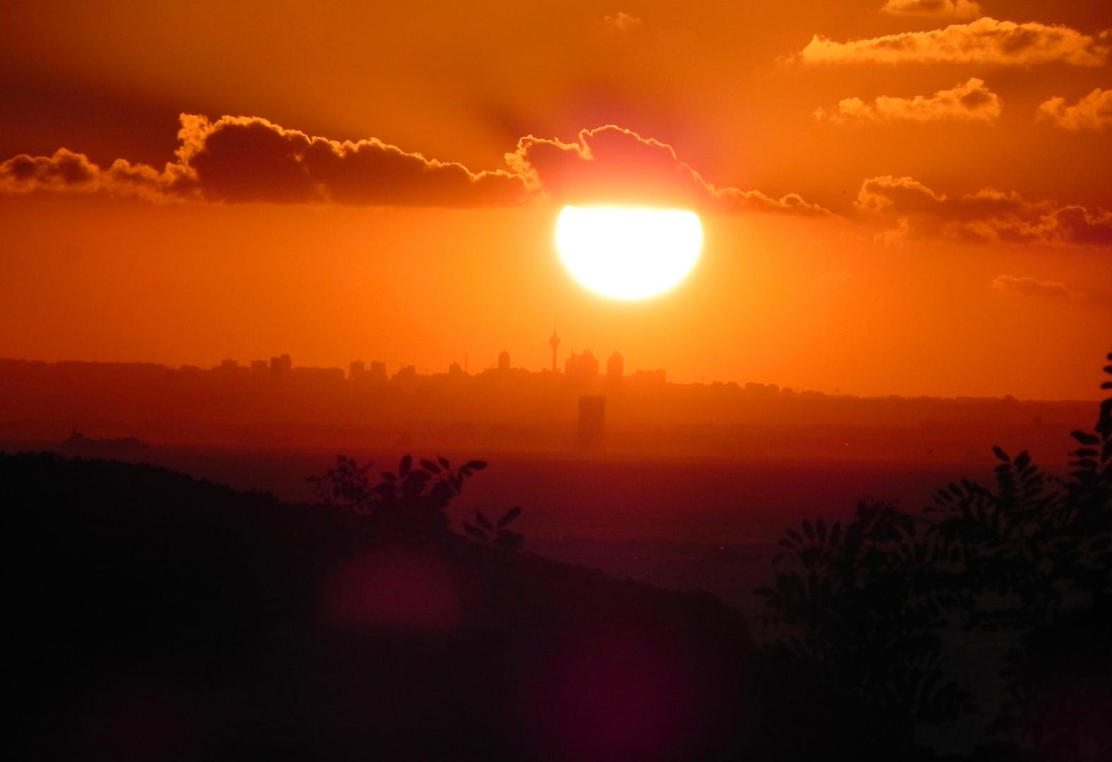 Sonnenuntergang bei Istanbul