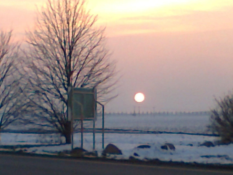 Sonnenuntergang bei Jarmen