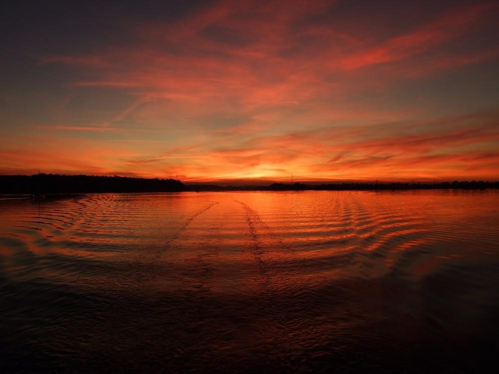 Sonnenuntergang bei Kappeln an der Schlei