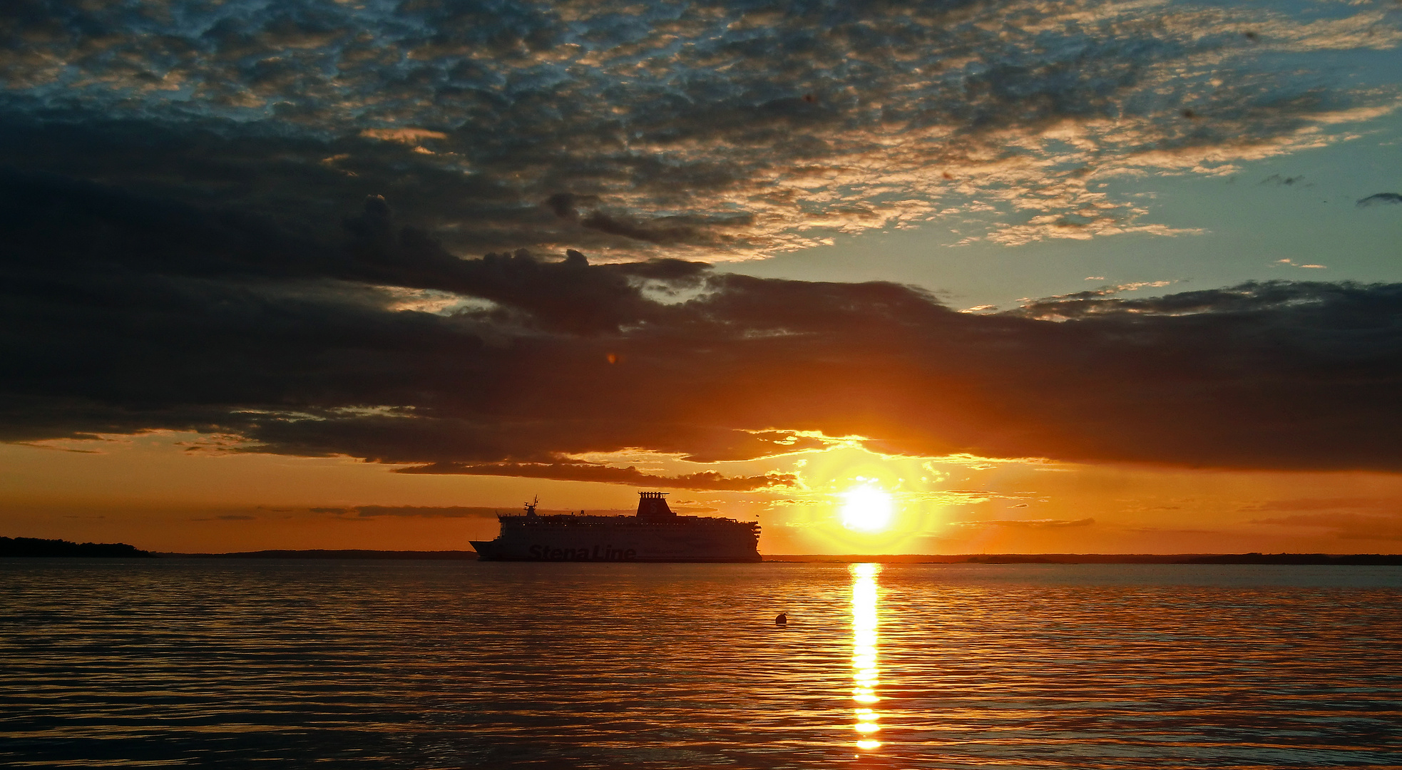 Sonnenuntergang bei Karlskrona