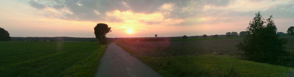 Sonnenuntergang bei Kolenfeld - Panorama