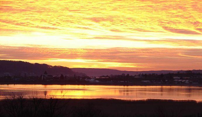 Sonnenuntergang bei Konstanz am Bodensee