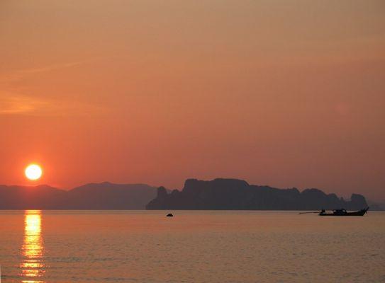 Sonnenuntergang bei Krabi