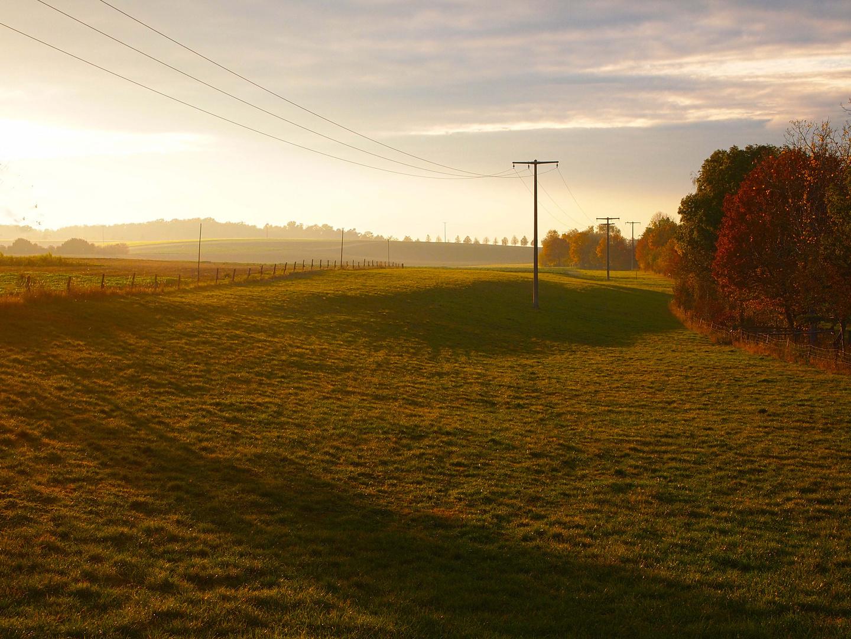 Sonnenuntergang bei leichtem Hochnebel