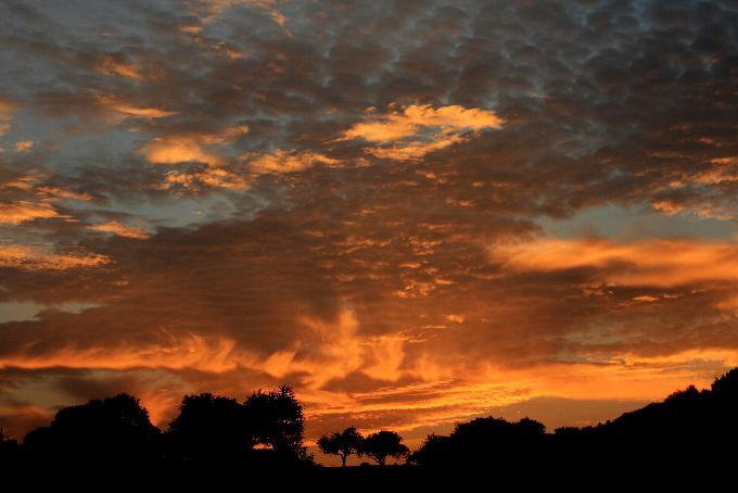 Sonnenuntergang bei Mannebach