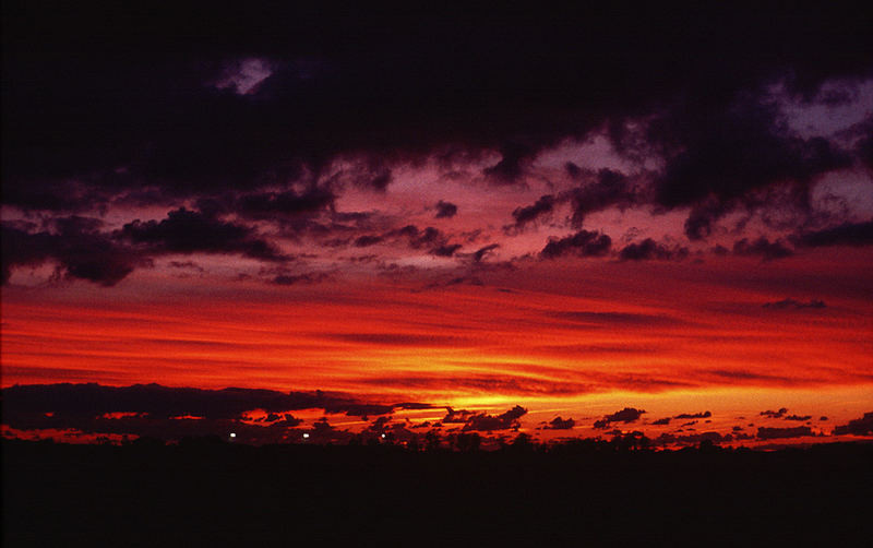 Sonnenuntergang bei Meldorf