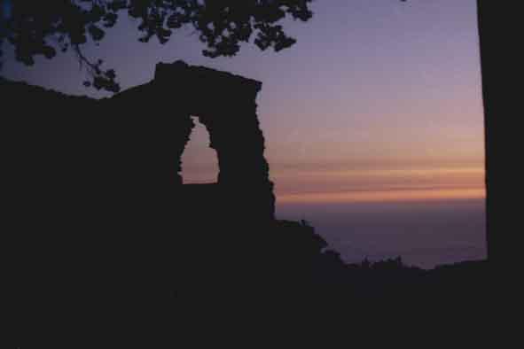 Sonnenuntergang bei Monolithos ( Rhodos )