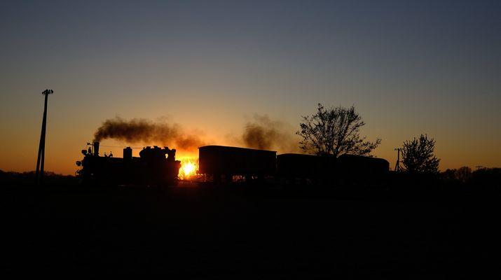 Sonnenuntergang bei Naundorf