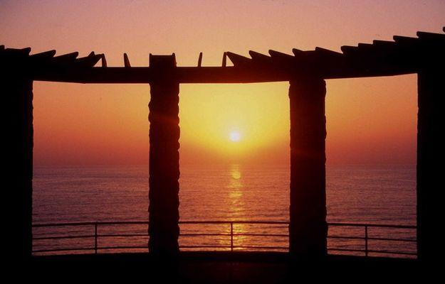 Sonnenuntergang bei Nethanya, Israelische Mittelmeerküste