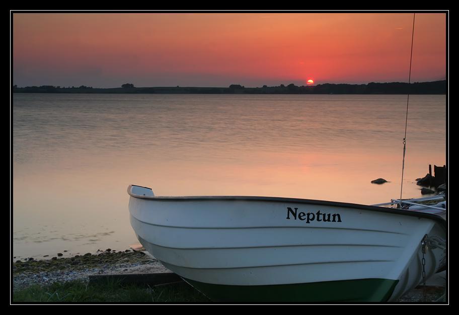 Sonnenuntergang bei Neu Reddevitz 2