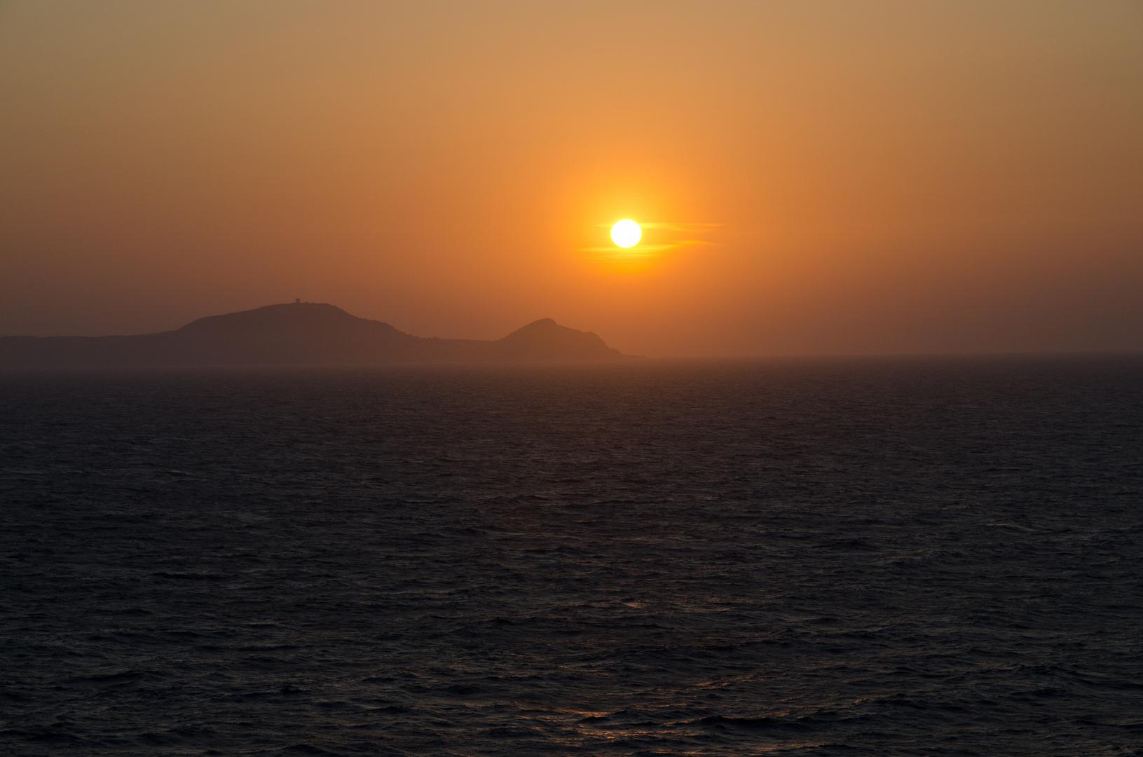 Sonnenuntergang bei Palermo