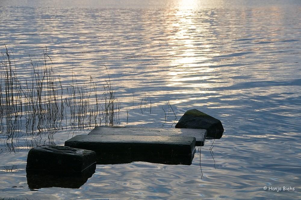 Sonnenuntergang bei Pinkelpause