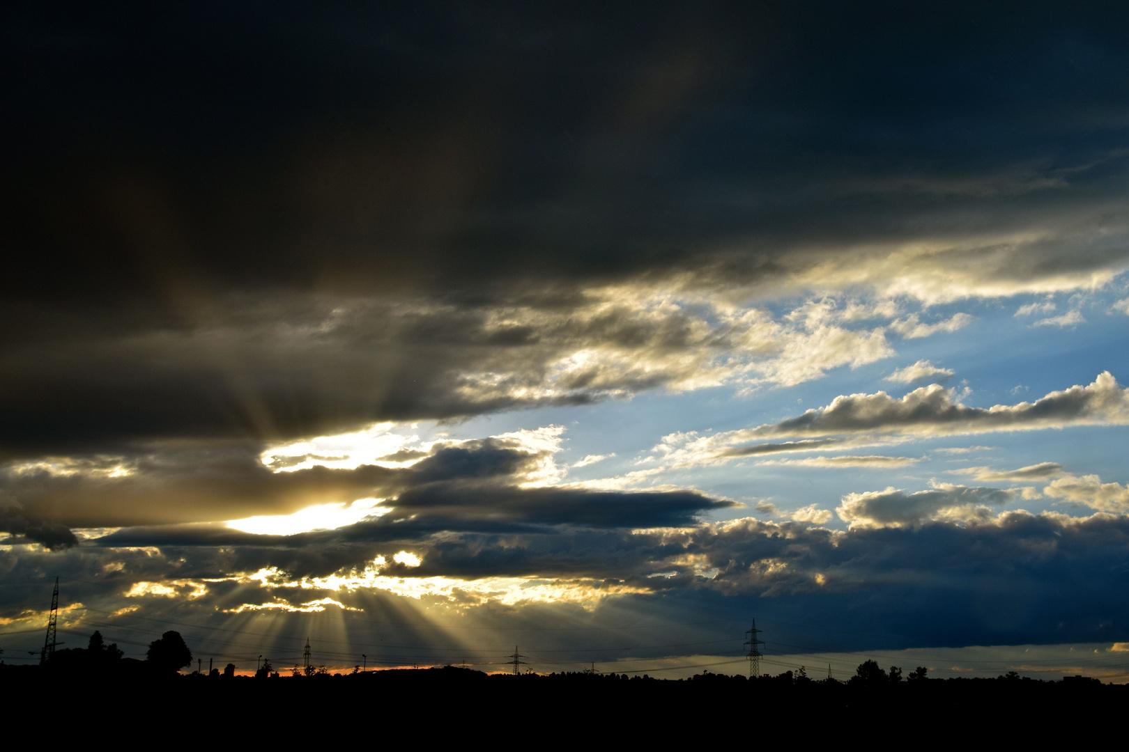 Sonnenuntergang bei Regen