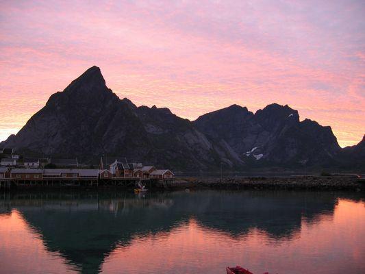 Sonnenuntergang bei Reine