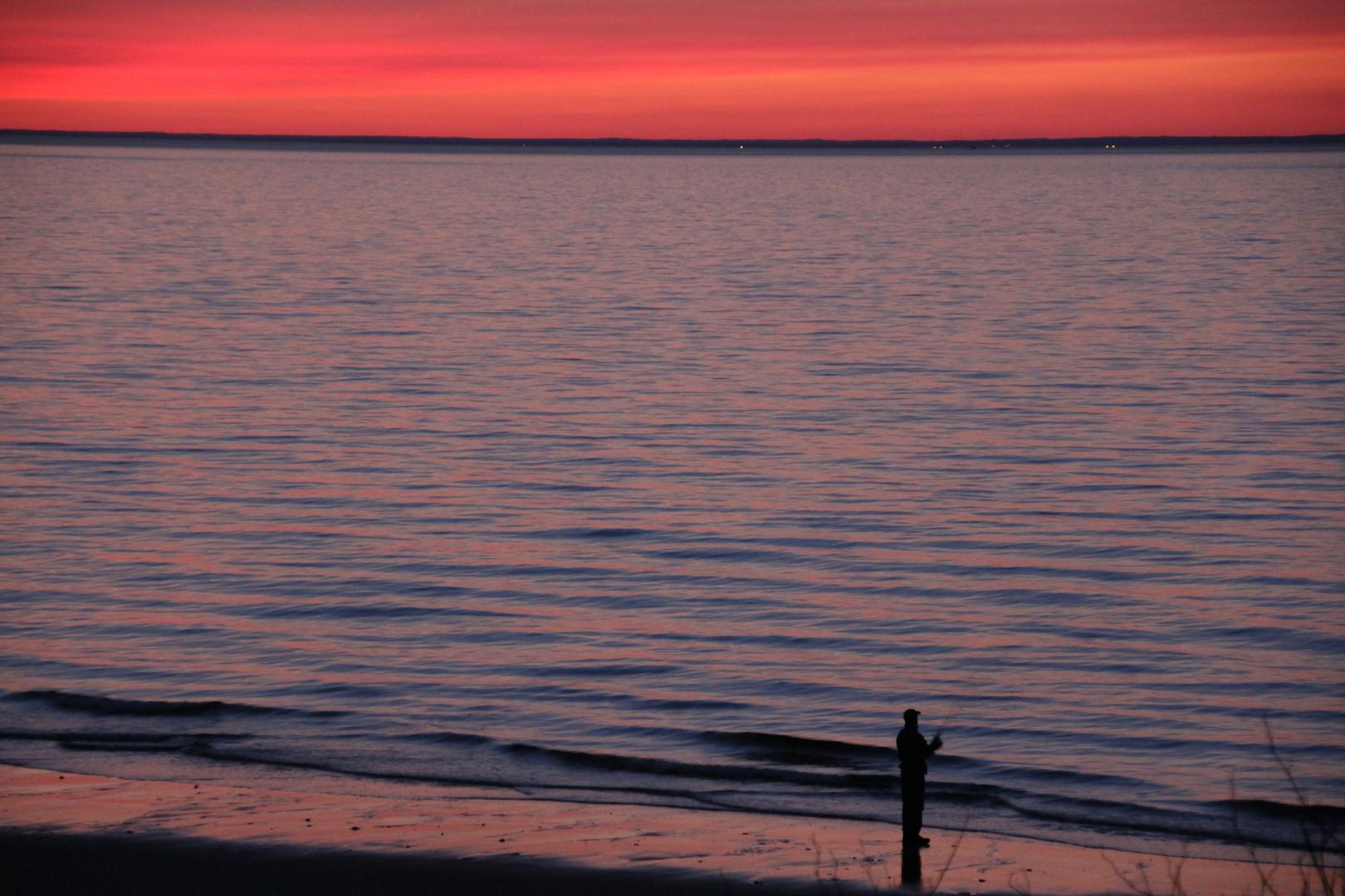 Sonnenuntergang bei Rocky Point NY