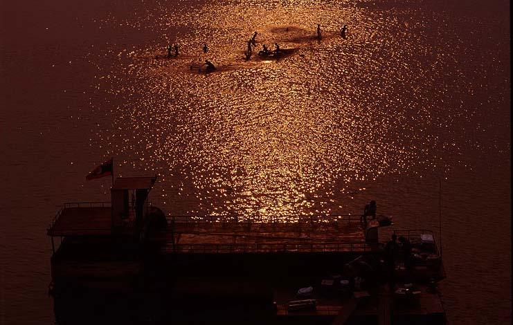 Sonnenuntergang bei Savannakhet