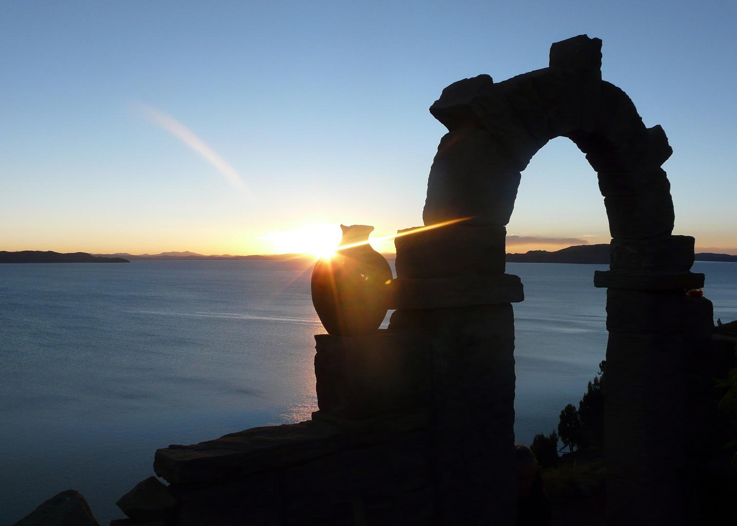 Sonnenuntergang bei Senor Alipio