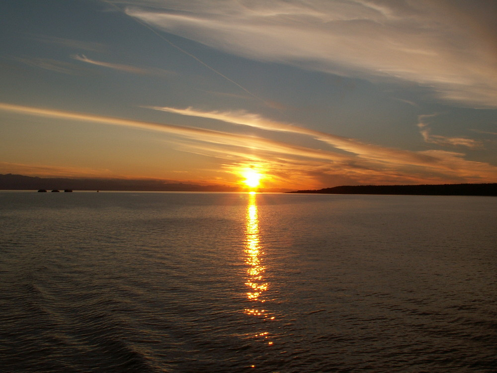 Sonnenuntergang bei Vancouver Island