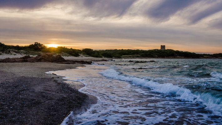 Sonnenuntergang bei Vignola Mare