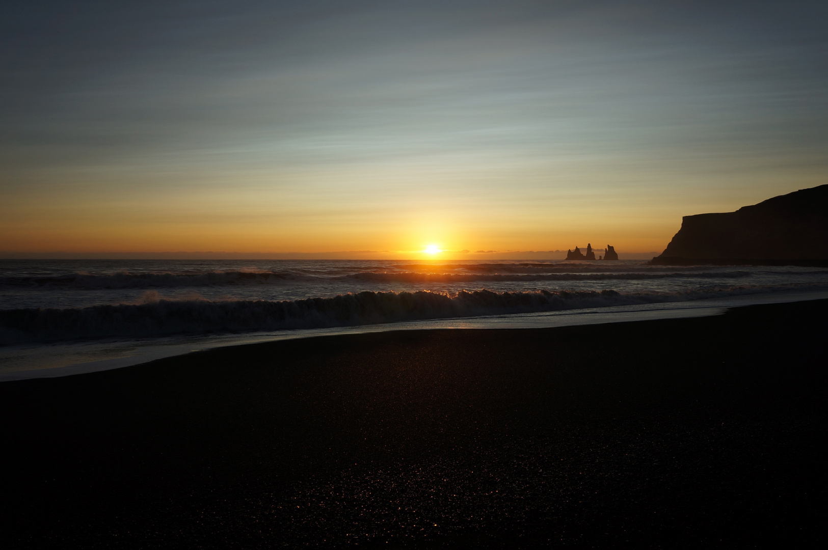 Sonnenuntergang bei Vik (Island 2012)