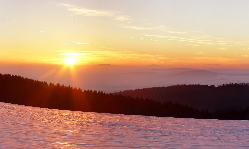 Sonnenuntergang bei Waffenrod-Hinterrod