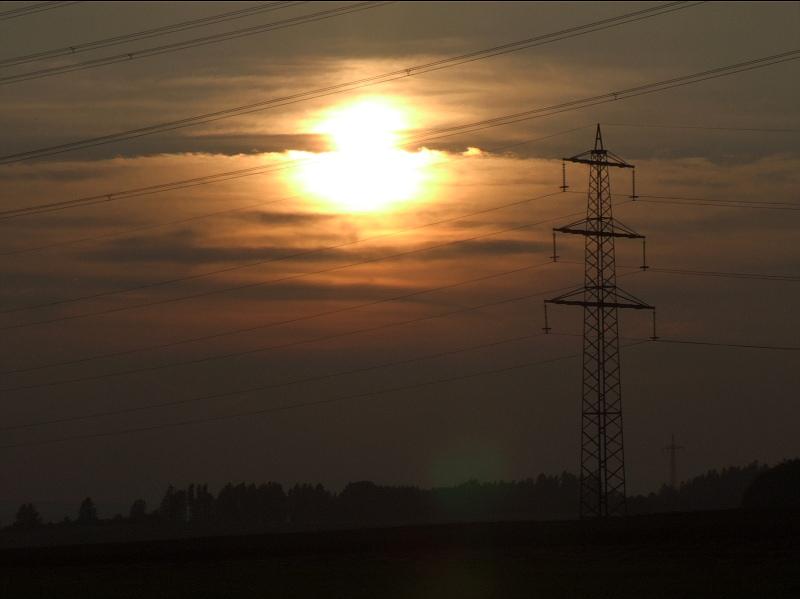 Sonnenuntergang bei Weigheim