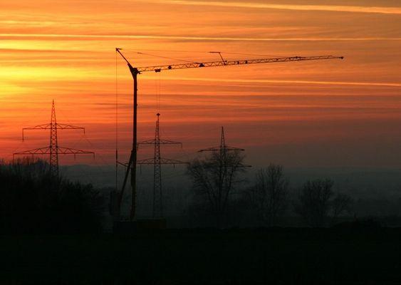 Sonnenuntergang bei Wewer 15.01.05