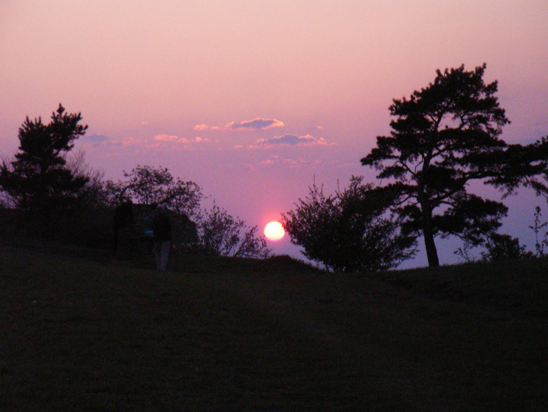 Sonnenuntergang beim Staffelberg