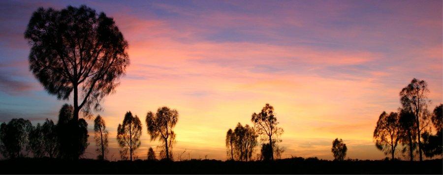 Sonnenuntergang beim Uluru