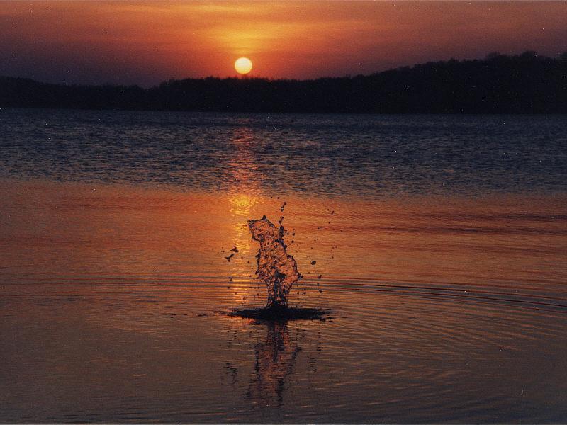 Sonnenuntergang Bergwitzsee