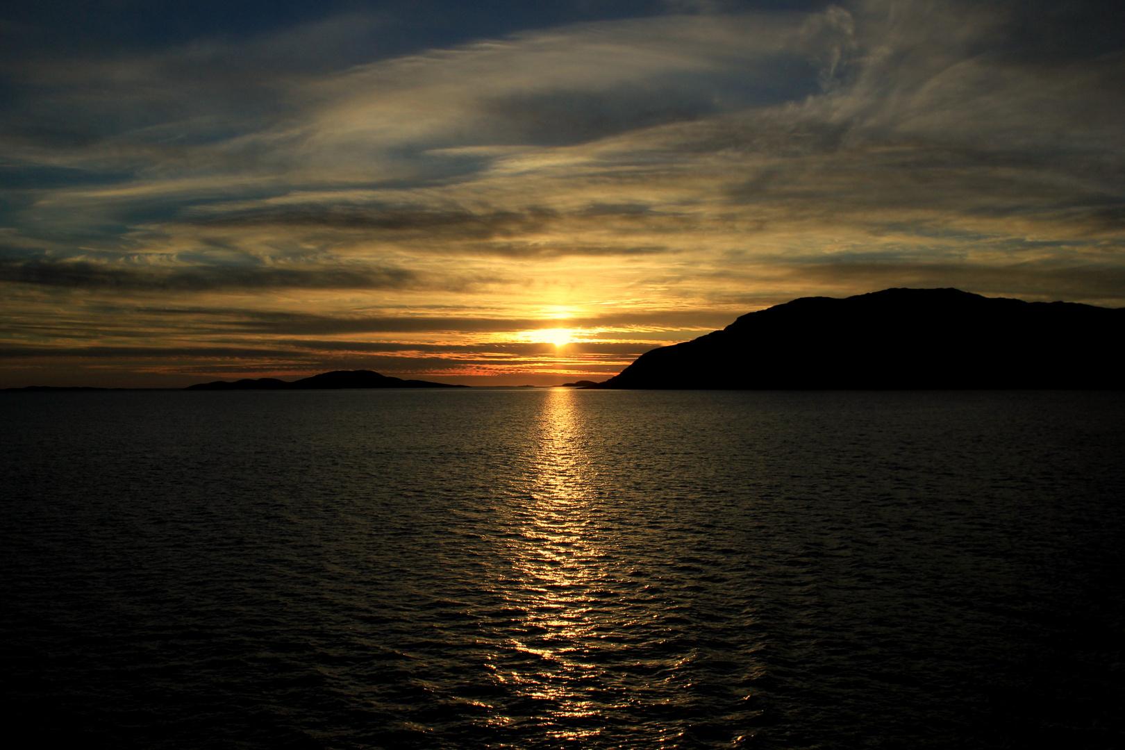 Sonnenuntergang Bindalsfjord
