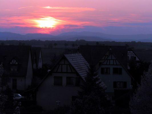 Sonnenuntergang (bläulich)