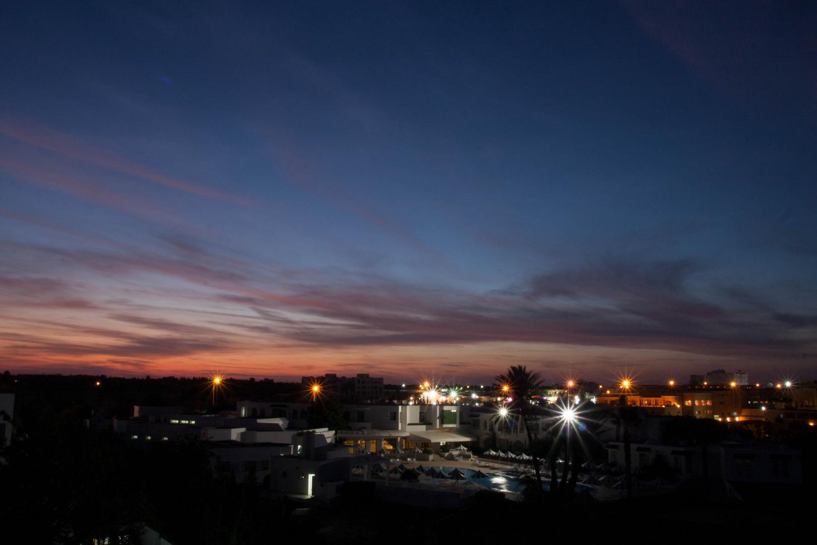 Sonnenuntergang / blaue Stunde?