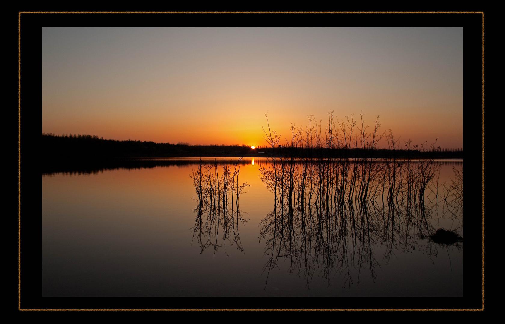 Sonnenuntergang Blausteinsee