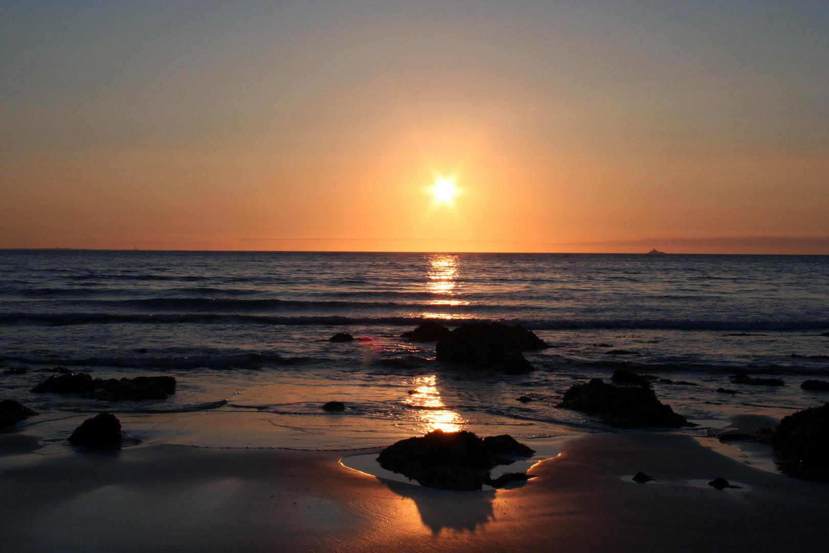 Sonnenuntergang Bretagne
