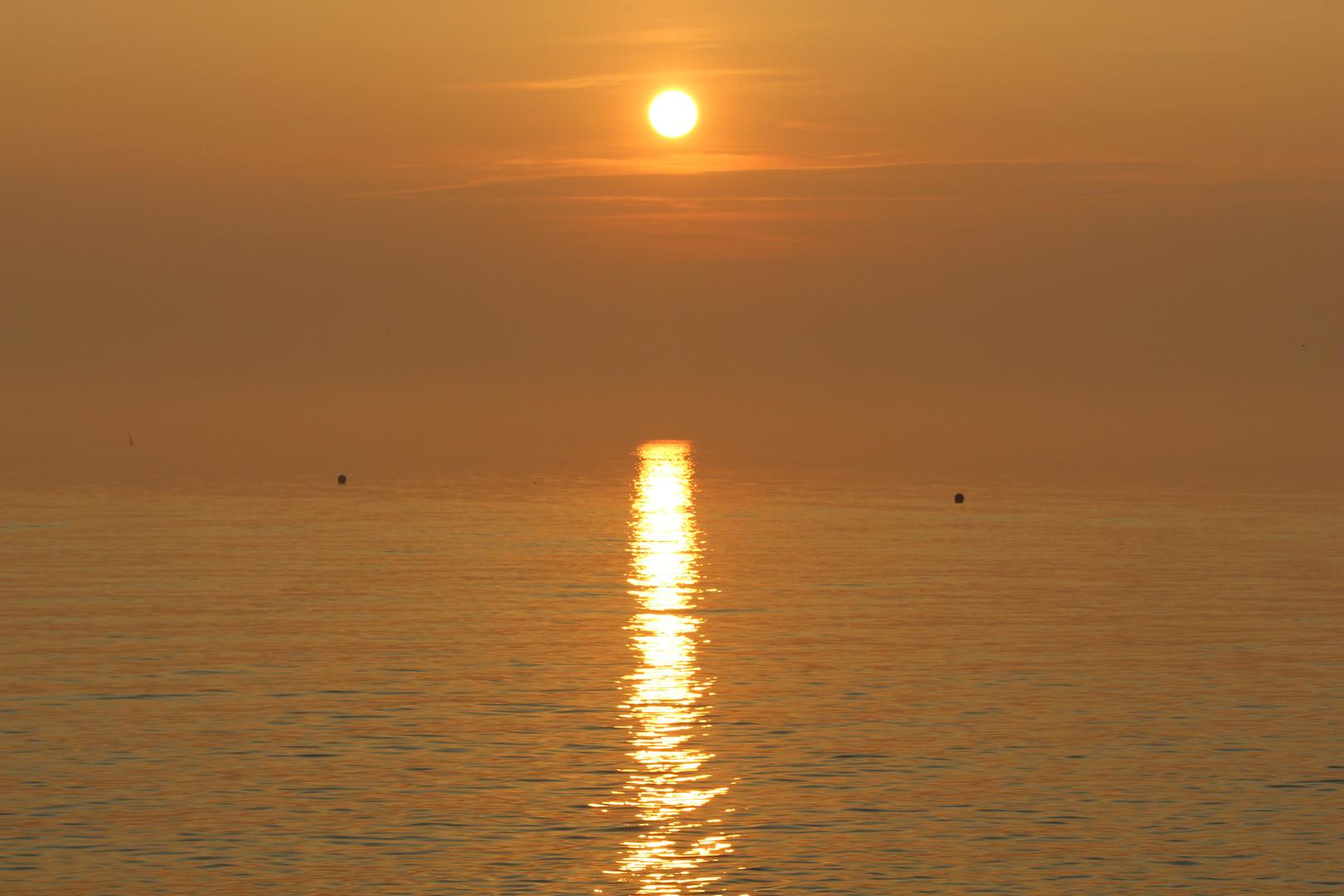 Sonnenuntergang Büsum Oktober 2014 2