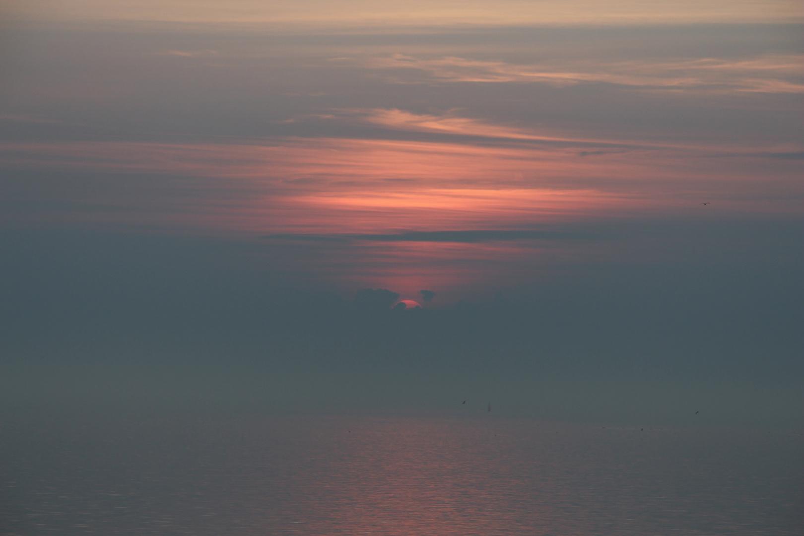 Sonnenuntergang Büsum Oktober 2014 3