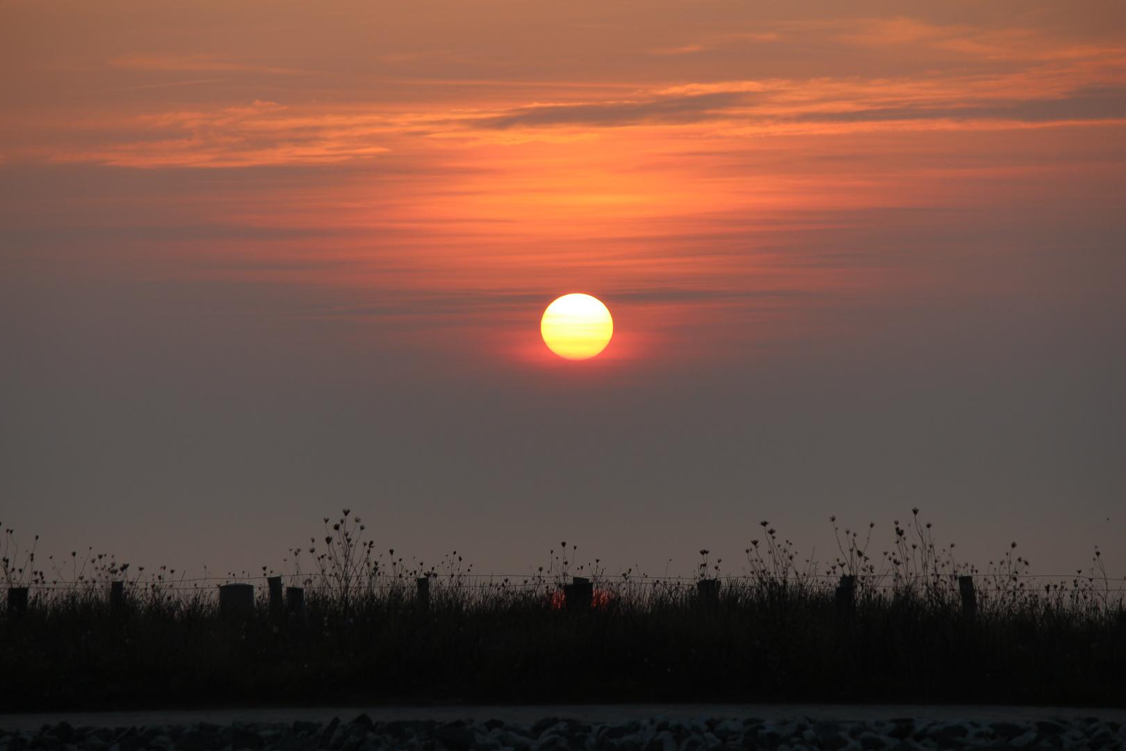 Sonnenuntergang Büsum Oktober 2014 4