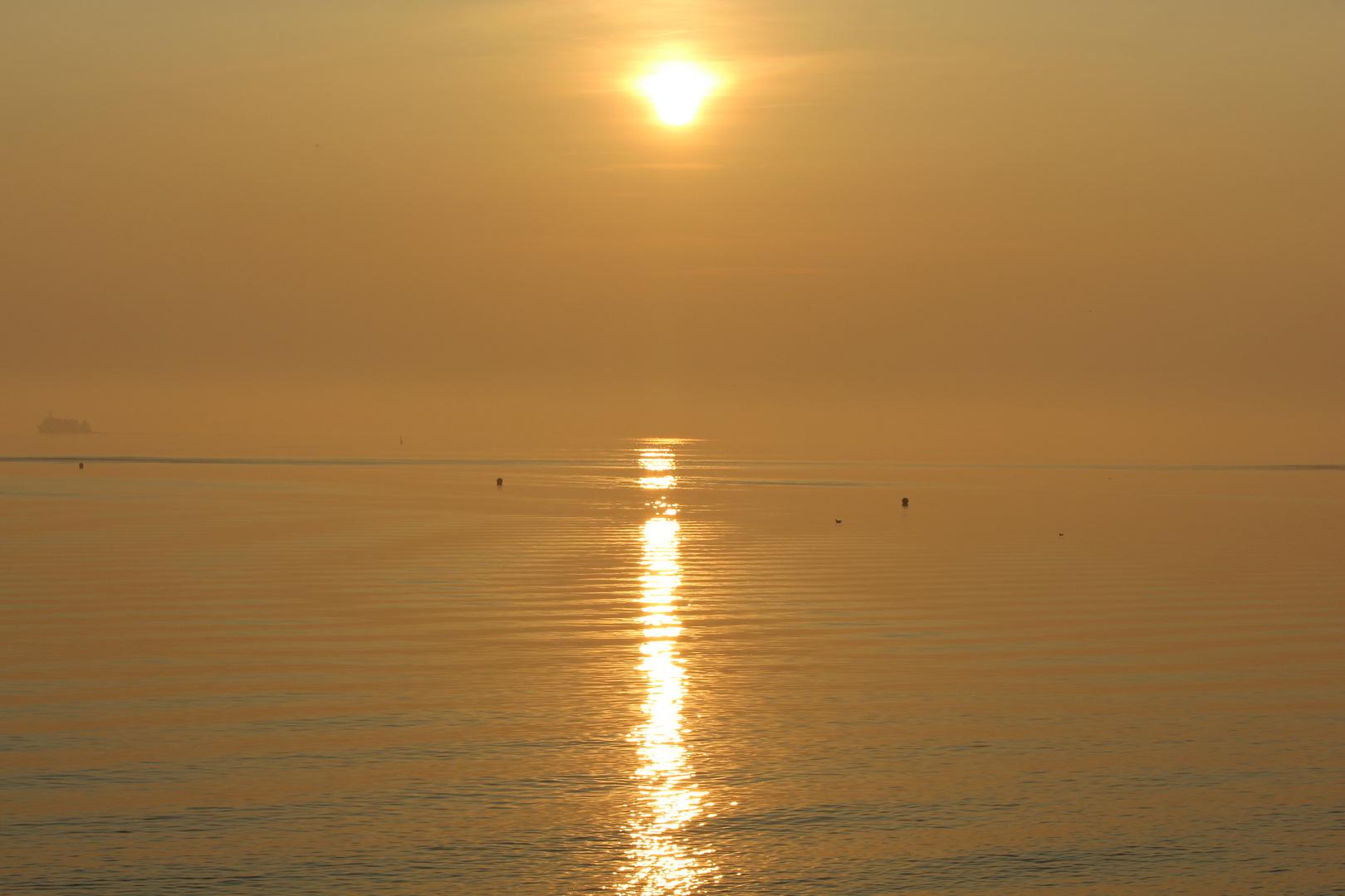 Sonnenuntergang Büsum Oktober 2014