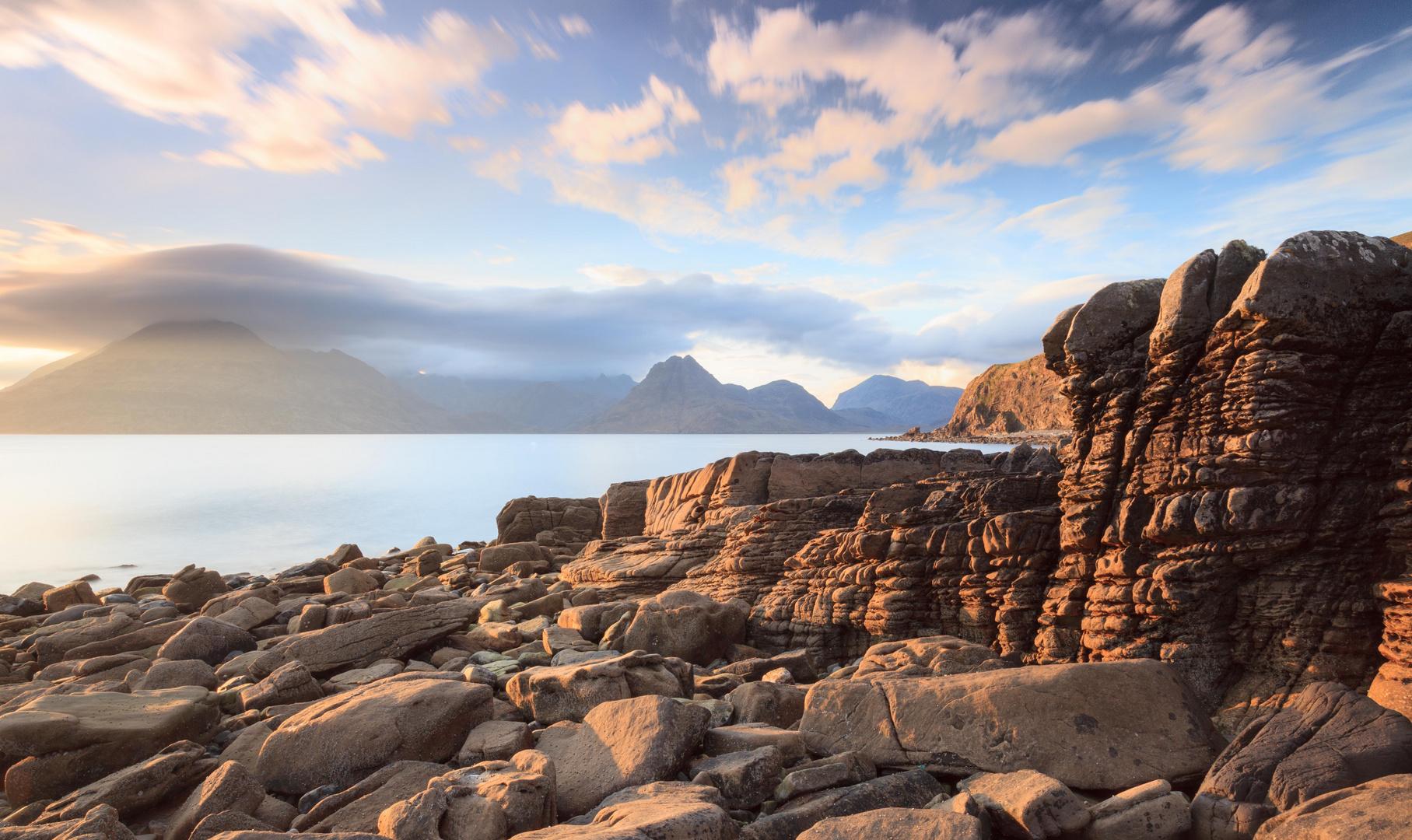 Sonnenuntergang Cullins - Isle of Skye