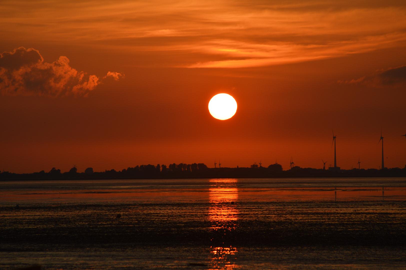 Sonnenuntergang Dangast Sommer 2013