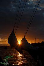 Sonnenuntergang der Hanse Sail